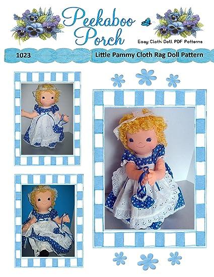 Amazon.com: Little Pammy Rag Doll Easy Cloth Doll PDF Pattern - Easy ...