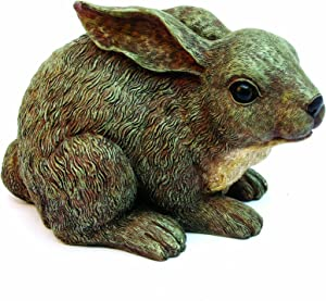 Baby Rabbit Brown Rabbit Family by Michael Carr Designs - Outdoor Rabbit Figurine for gardens, patios and lawns (511013GY)