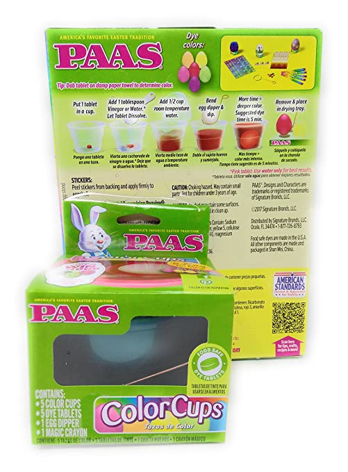Amazon.com: Happy Paas Egg Decorating Kit Easter Basket Kids Toddlers Gift Children Pre Made Girls Boys Eggs Dying Coloring Cups Color Neon: Toys & Games