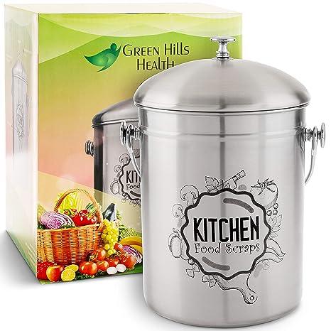 Amazon.com: Compost de cocina de grado alimenticio 410 acero ...