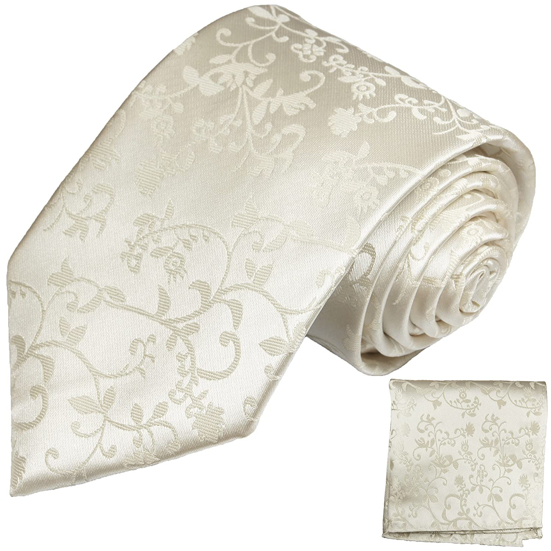 Paul Malone Corbatas Set 100% seda Ivory marfil boda corbata ...