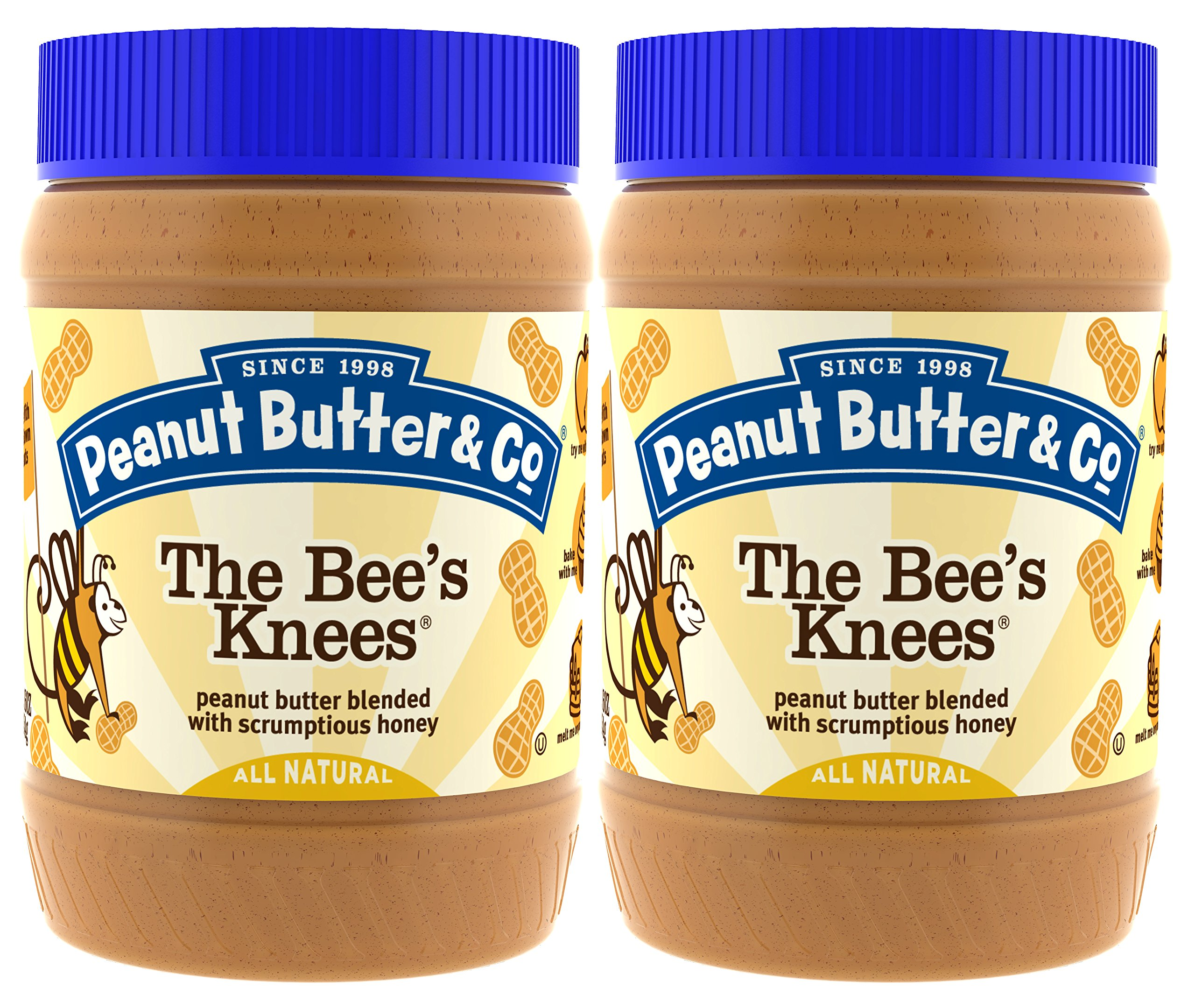 Peanut Butter & Co. Peanut Butter, Gluten Free, The Bee's Knees (Honey), 16 Ounce Jars (Pack of 2)