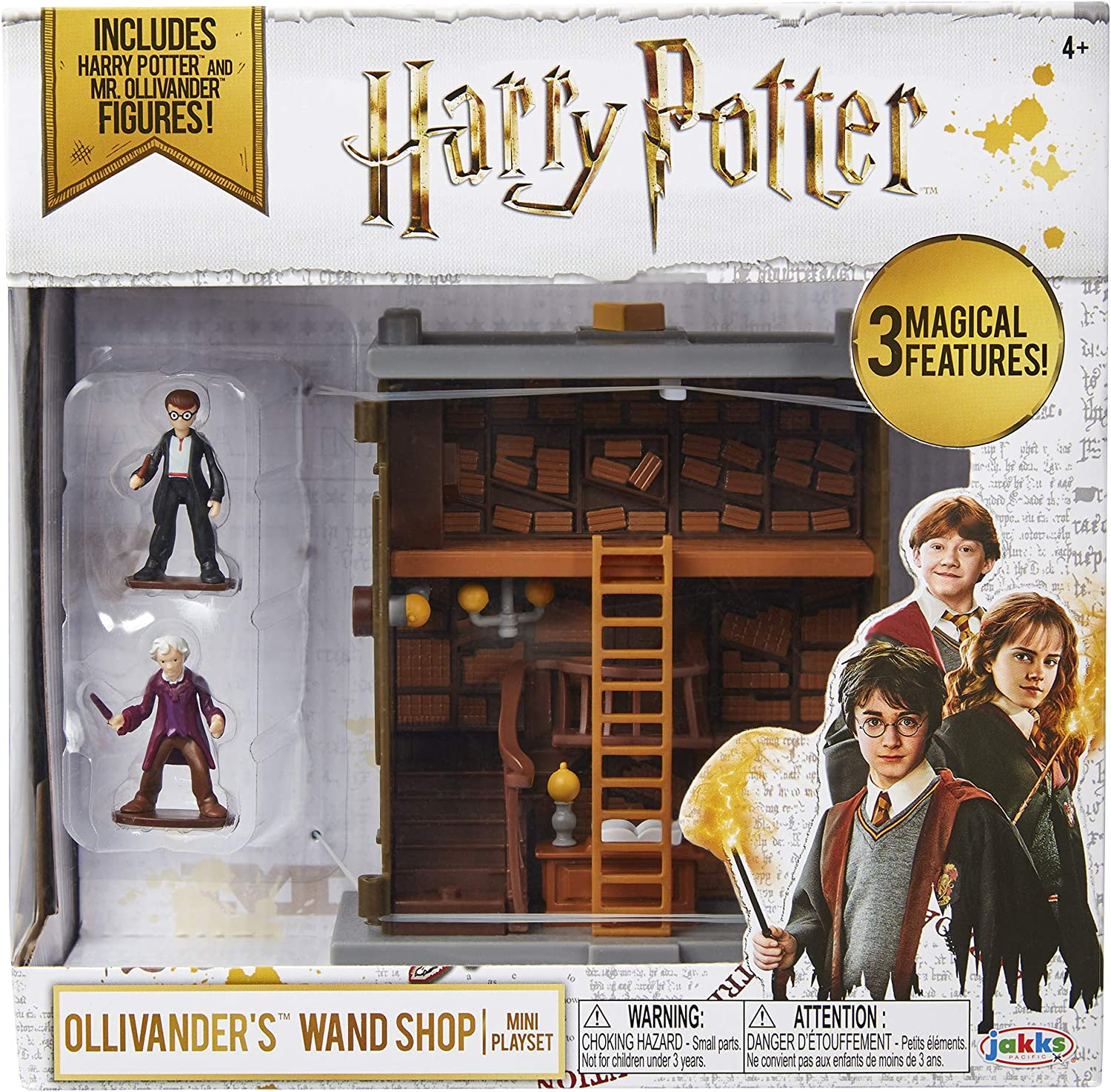 with 3 Magical Features Includes HP and Mr HARRY POTTER Ollivanders Wand Shop Mini Playset Ollivander Figures