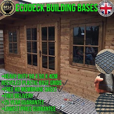 ECO500 Cobertizo de jardín o Base de Invernadero, ecológica, con Rejillas de Grado,