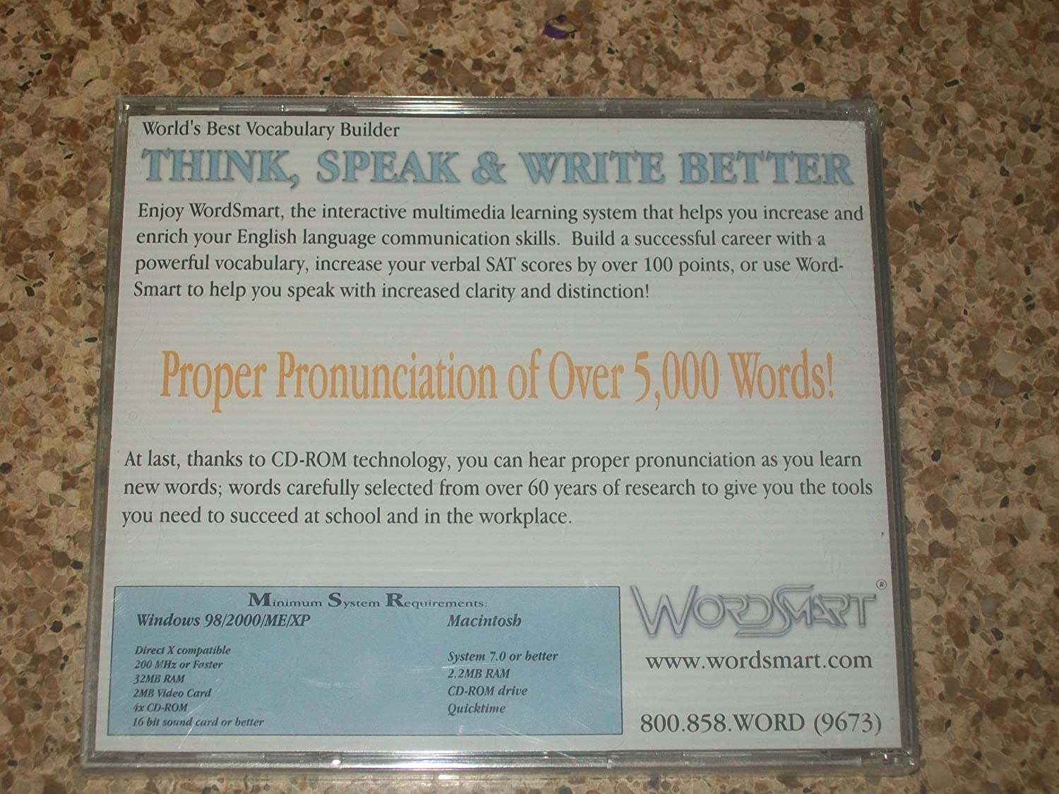 Amazon com: WORDSMART DISC THINK,SPEAK & WRITE BETTER THIRD