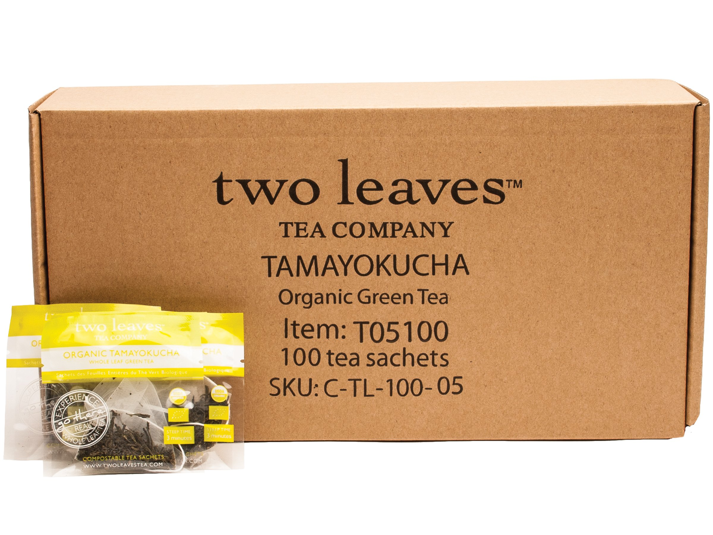 Two Leaves and a Bud Organic Tamayokucha Green Tea, 100-Count