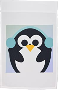 3dRose fl_79276_1 Christmas Penguin-Cute Whimsical Art Garden Flag, 12 by 18-Inch
