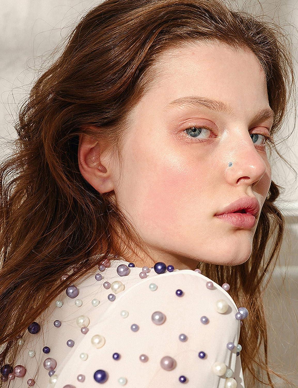Milacolato 20G 28Pcs Stainless Steel Nose Stud Set Bone L-Shaped Screw Labret Lip Nose Ring Hoop Piercing Jewelry