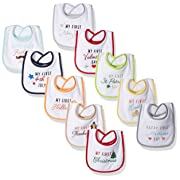 Hudson Baby Festive Holiday Bibs, 10, One Size