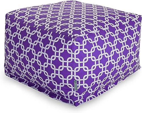 Majestic Home Goods Ottoman, Large, Purple Links