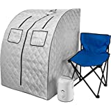 Durasage Oversized Portable Steam Sauna Spa for Weight Loss, Detox, Relaxation at Home, 60 Minute Timer, 800 Watt Steam Gener