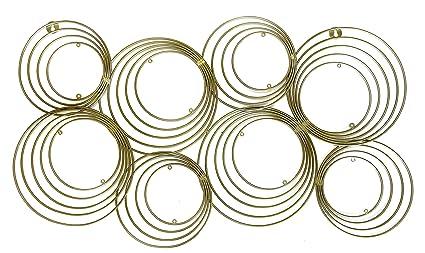 Amazoncom Decorshore Concentric Circles Gold Metal Wall Art Mid