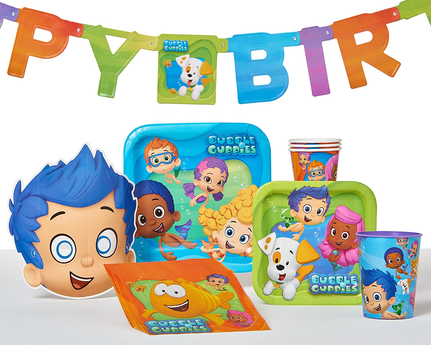 amazon com bubbly rrific bubble guppies square birthday party