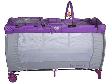Asalvo 3223 - Cuna de viaje canarias, color lila: Amazon.es ...
