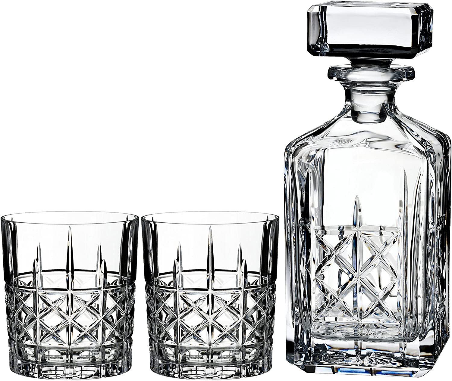 Marquis By Waterford Brady Decanter Set, 32 oz 11 oz Glasses