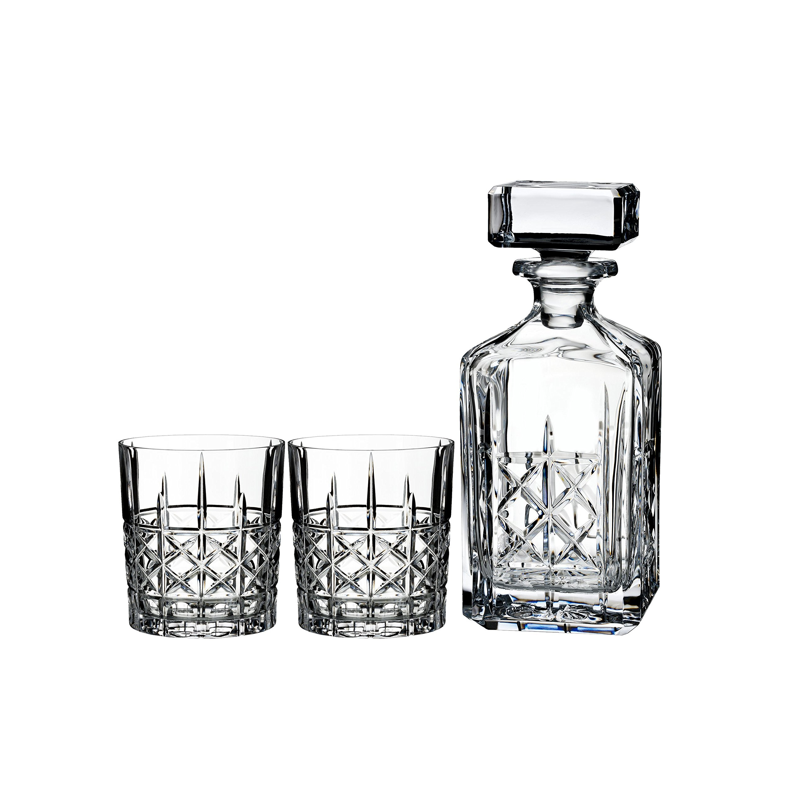 Marquis By Waterford Brady Decanter and Double Old Fashion Set