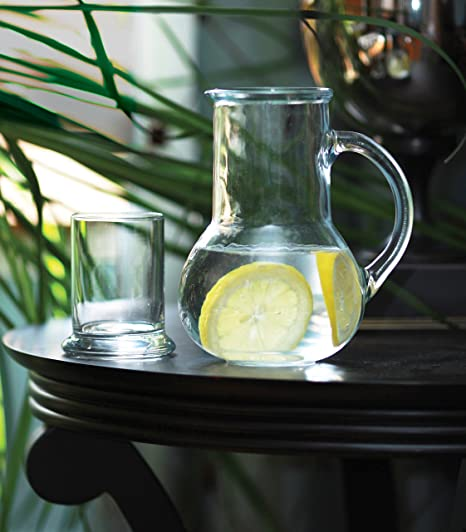 Circleware Oasis mesilla de noche jarra y juego de cristal, un jarra de cristal 36