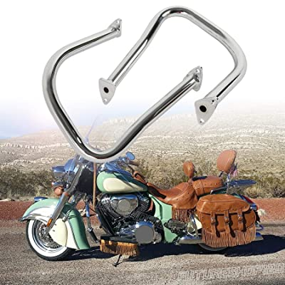 Fits Indian Challenger Limited Chief Vintage 2014-2020 Chrome Rear Highway Bars Saddlebag Crash Guards For Chieftain 116 111 + Roadmaster Elite Classic + Springfield Dark Horse: Automotive
