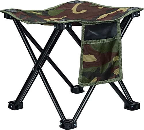 Cushioned Collapsible Stool for Adults and Kids with Plush Cushion on Sitting Stool – Adjustable and Lightweight Retractable Stool – Perfect for Camping, Fishing, Hiking, Golf, Bonfires, Local Travel