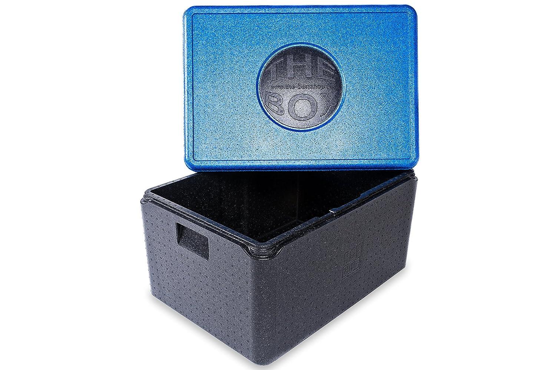 *7er Paket* - THE BOX Thermobox Universal groß, Art. 79808; Deckelfarbe: blau, Außenmaß 68,5 x 48,5 x 36,5 cm, Innenmaß 62,5 x 42,5 x 30 cm, Nutzhöhe 30 cm, 80 l.