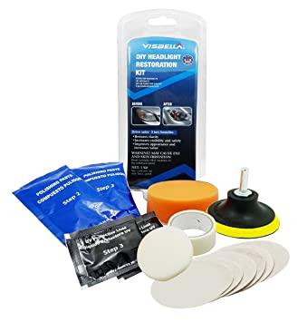 Visbella Diy Headlight Restoration Kit Headlamp Lens Cleaning Tools