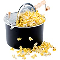 Franklin's Original Whirley Pop Stovetop Popcorn Machine Popper. Delicious & Healthy Movie Theater Popcorn Maker. FREE…