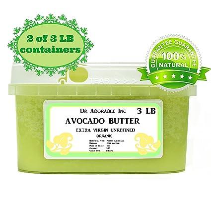 Mantequilla de aguacate virgen extra sin refinar por Dr. Adorable Pure Raw 6 Lb
