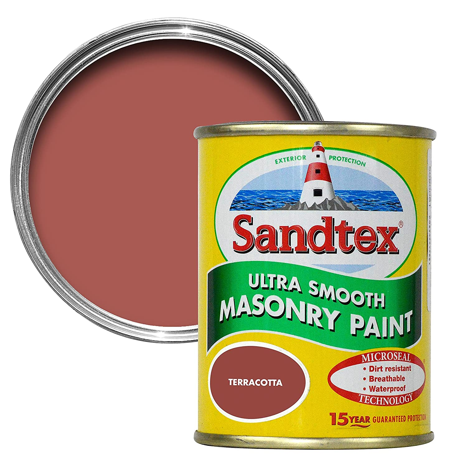 Sandtex 150ml Terracotta Ultra Smooth Masonry Paint Crown Paints Limited
