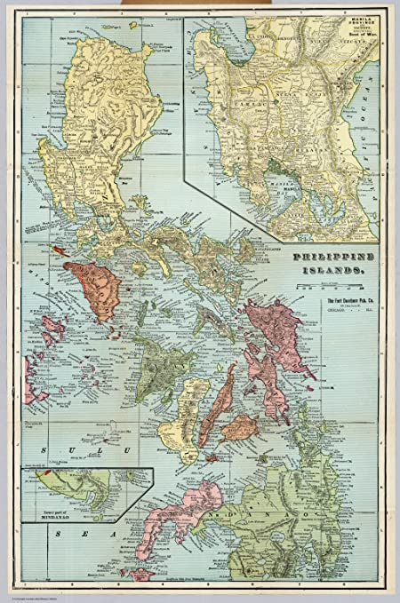 Amazon map poster philippine islands 24x16 posters prints map poster philippine islands 24quot gumiabroncs Gallery