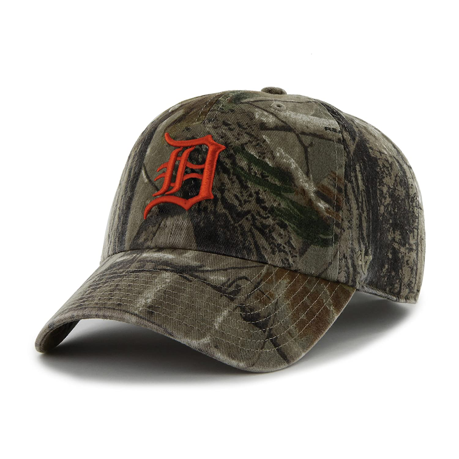 fc9b6286d1c5a '47 MLB Detroit Tigers Clean Up Adjustable Hat, One Size, Realtree  Camouflage