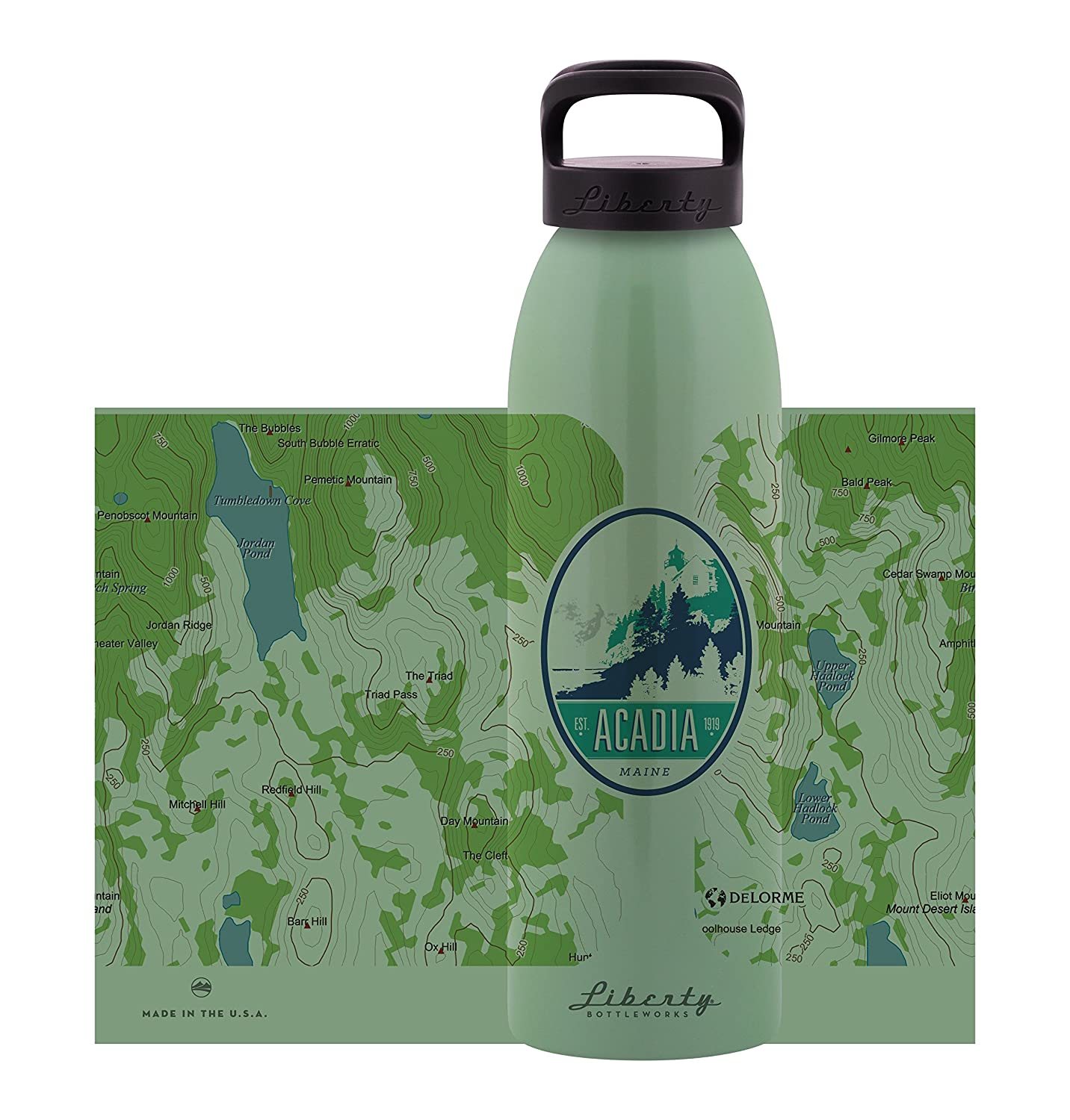 Liberty Bottleworks Topo Aluminum Water Bottle Made in USA