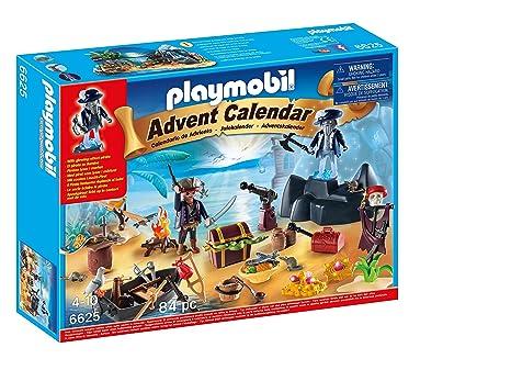 Calendario Avvento Playmobil.Playmobil 6625 Calendario Dell Avvento Tesoro Segreto Dei Pirati 40 Pezzi