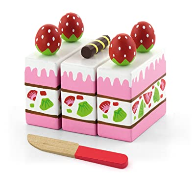 Superb Choice Strawberry Cake - Pretend Children Play Kitchen Game Food: Toys & Games