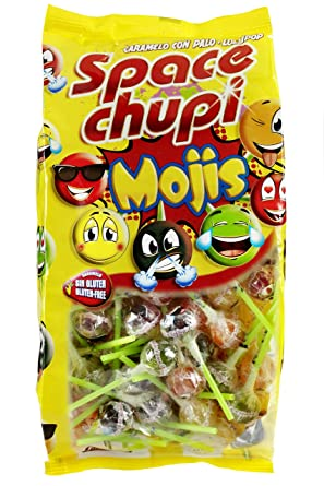 Bolsa Con Mojis Y Cola Space Caramelos Palo Frutas Chupi Sabor O8kPN0wXn