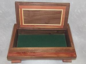 Handmade Wood Box Red Cedar with Walnut Hardwood Accents Etrog Citron Sukkot Chest