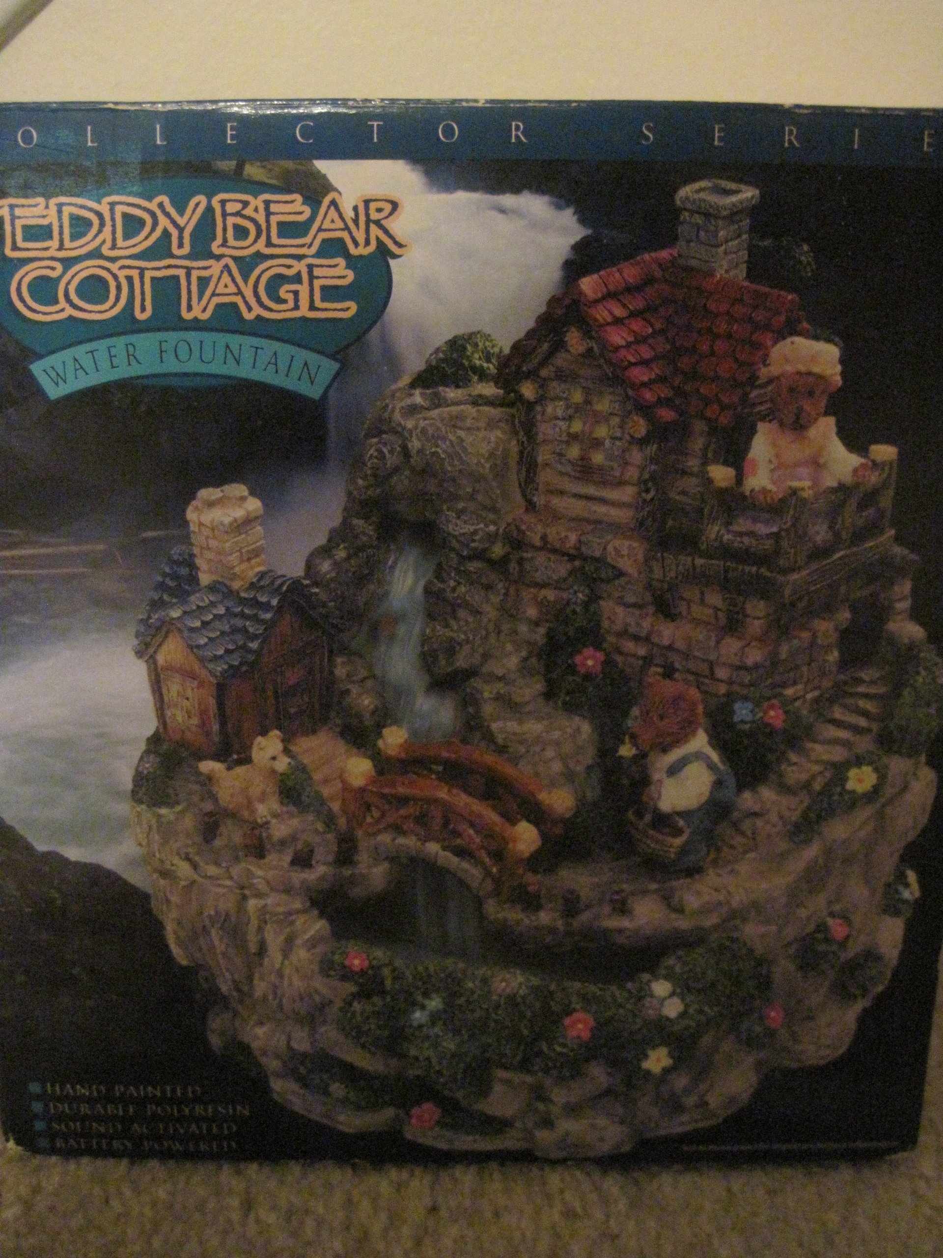 Teddy Bear Cottage Water Fountain