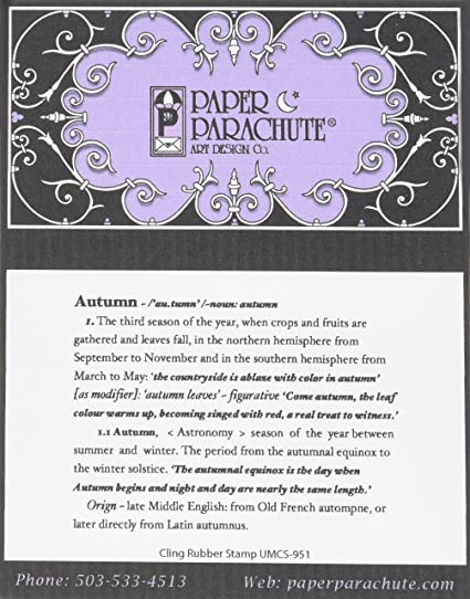 Paper Parachute UMCS951 Autumn Definition Cling Rubber Stamps 35quot