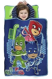 bd0a89fe4668 PJ Masks All Shout Horray Toddler Nap Mat - Includes Pillow and Fleece  Blanket – Great