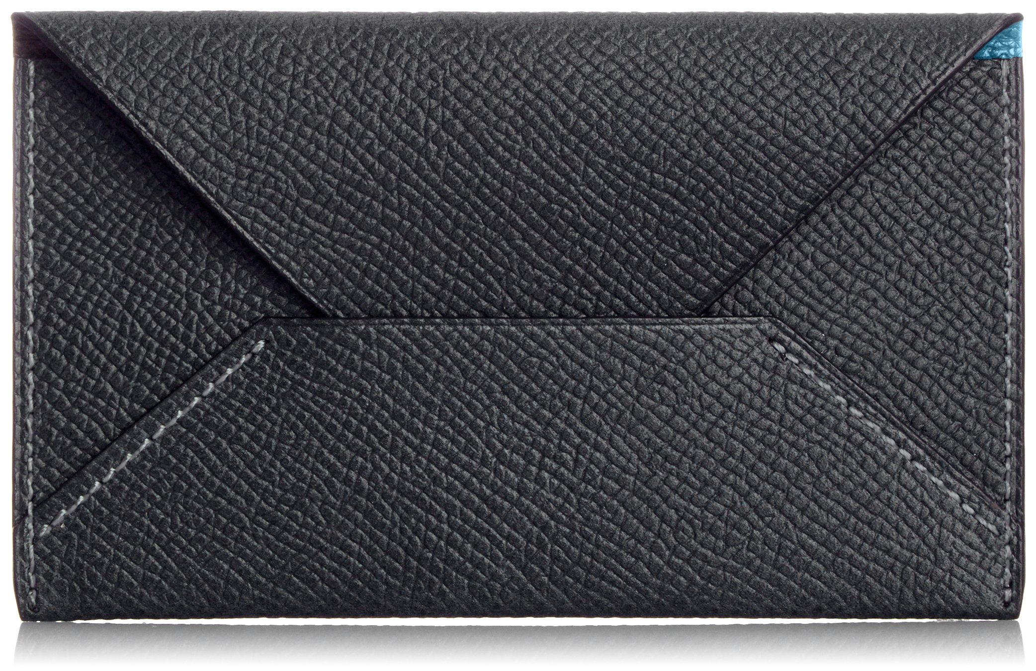 MAISON de HIROAN Leather Business card case Made in Japan 21556 Black/Blue