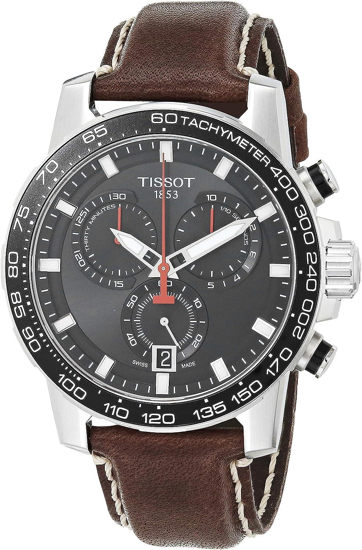 Tissot Supersport T125.617.16.051.01 - Reloj de pulsera para hombre con cronógrafo y correa de piel marrón