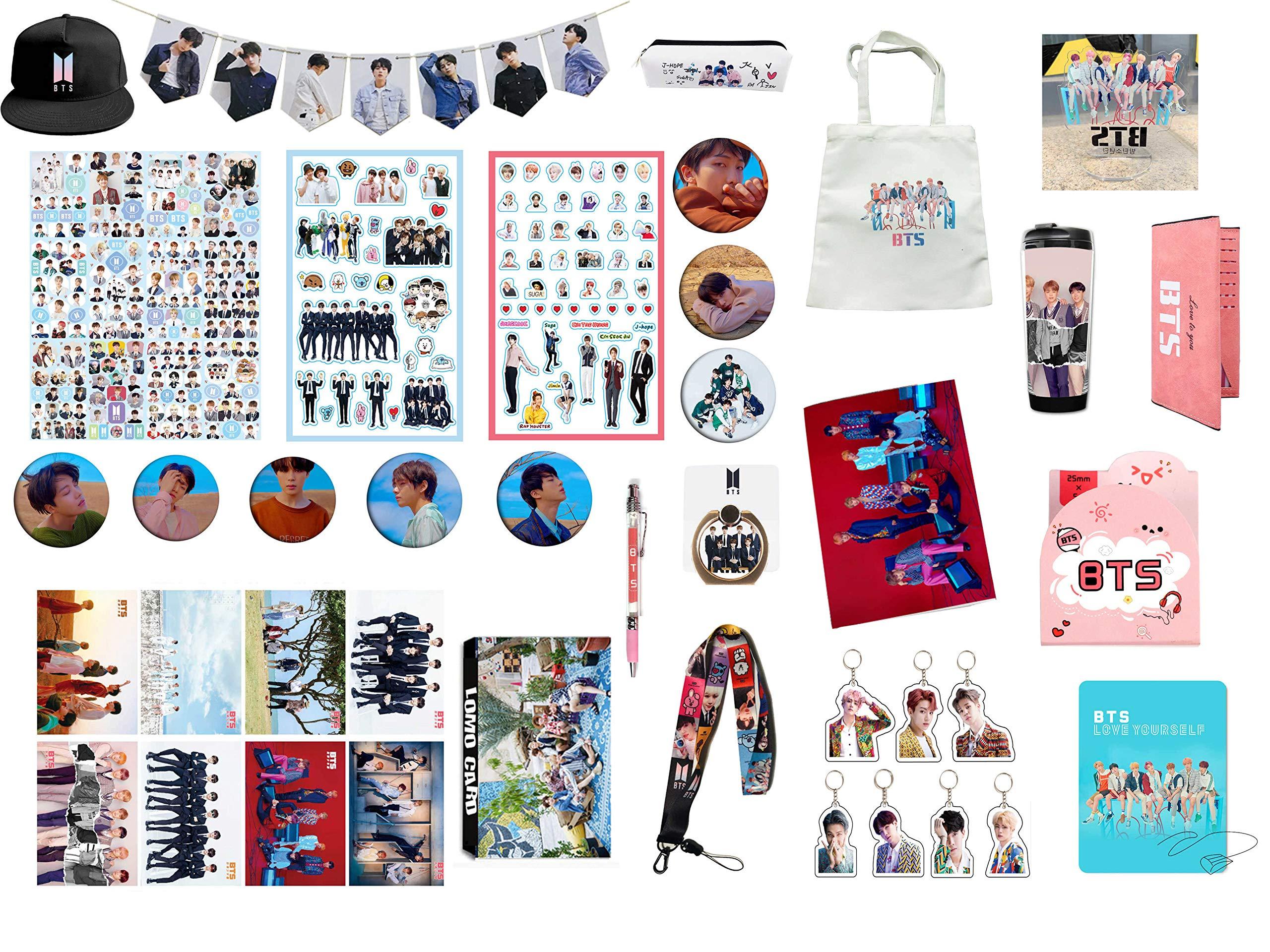 BTS Gifts Set for Army Bangtan Boys BTS Collectibles, BTS Pin, BTS Poster, BTS Sticker, etc (7)
