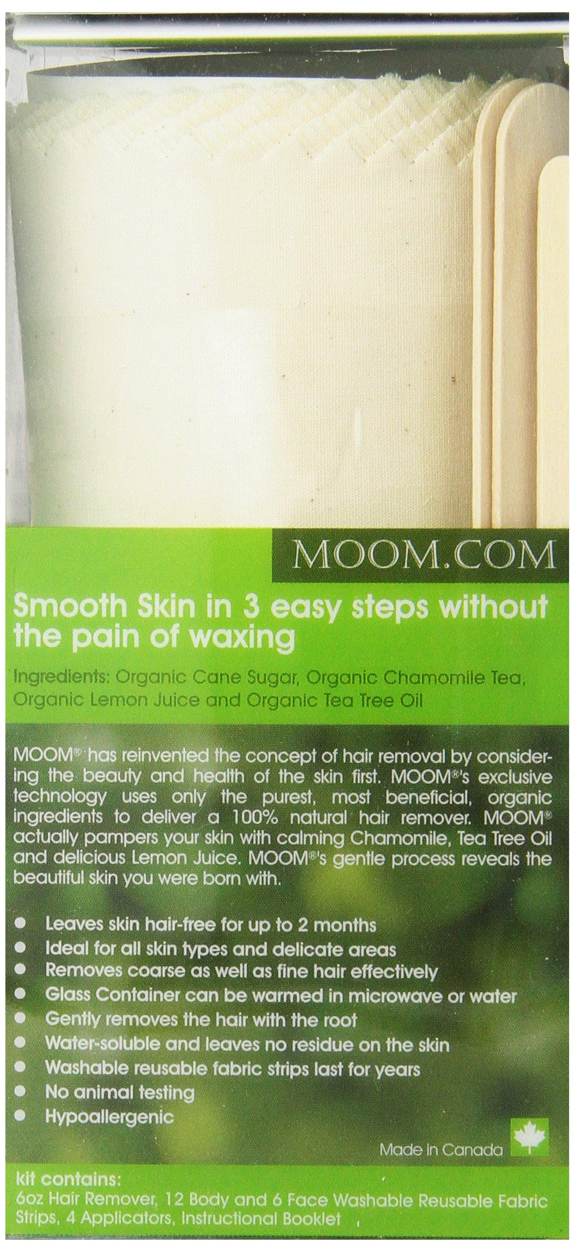 Moom Organic Hair Removal Kit, Tea Tree, 6-Ounce Package by Moom (Image #3)