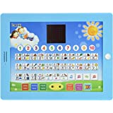 """Boxiki kids Spanish-English Tablet Bilingual Educational Toy with LCD Screen Display by Touch-and-Teach Pad for Kids Learning Spanish and English. ABC Games, Spelling, """"Where Is?"""" Games, Fun Melodies"""