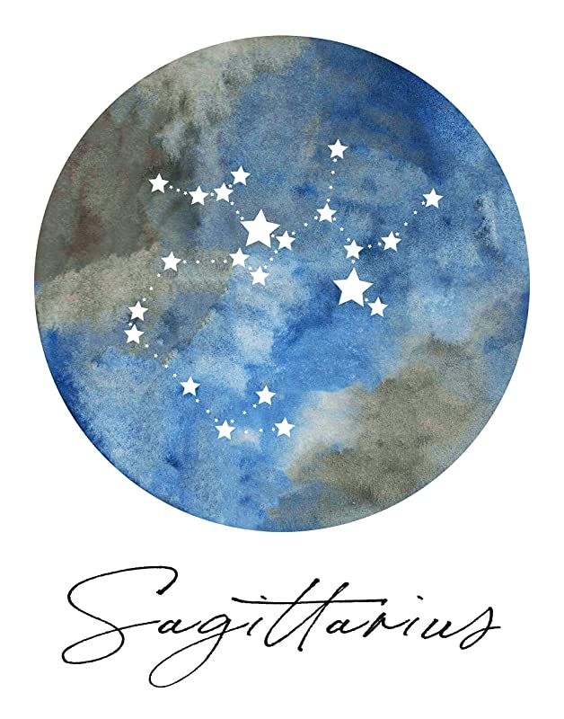 Sagittarius Astrology Sign Christmas Ornament//Magnet//DHM//Wall Art//Tabletop Decor