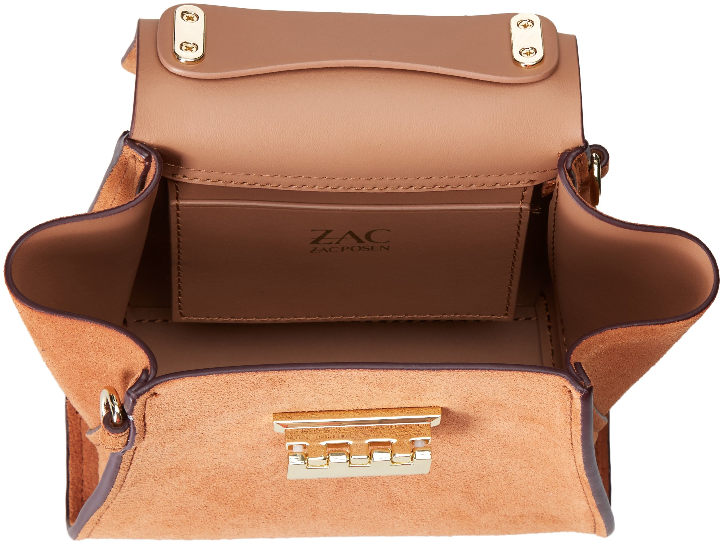 ZAC Zac Posen Eartha Iconic Top Handle Mini-Suede Colorblock W/ Baglace by ZAC Zac Posen (Image #5)
