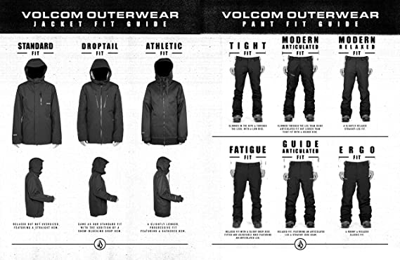 Volcom Herren L Insulated Gore tex Breathable Snow Jacket Isolierte Jacke