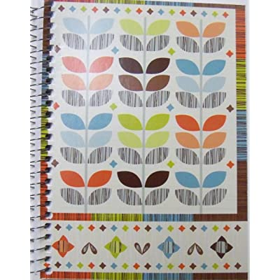 "Garden Style Spiral Notebook ~ Multicolored Leaf Patterns and Multicolor Border (5"" x 7""; 60 Sheets, 120 Pages): Toys & Games"