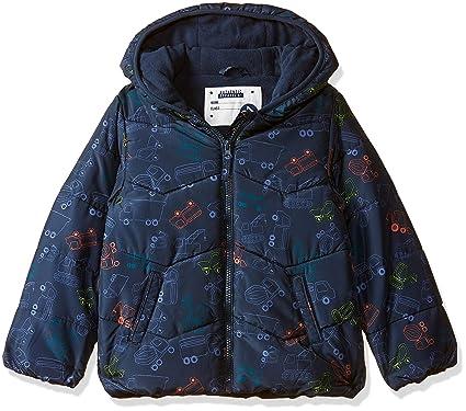 d198c2697 Mothercare Baby Boys  Padded Truck Fleece Jacket Blue (Navy)