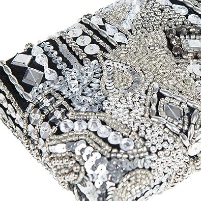 Parfois - Clutch - Bolso De Fiesta Julieta - Mujeres - Tallas M - Plateado Multicolor: Amazon.es: Zapatos y complementos