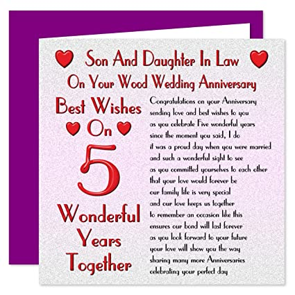 Anniversario 5 Anni Matrimonio.Son Daughter In Legno Diritto 5th Anniversario Di Matrimonio